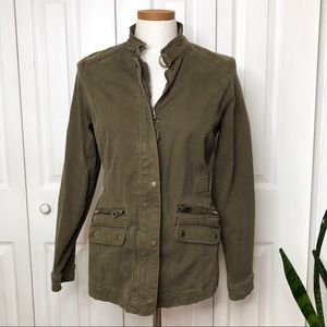 Lucky Brand utility jacket, olive/army green